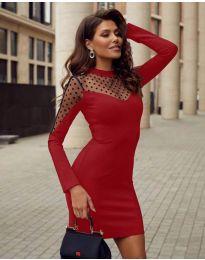 Φόρεμα - κώδ. 2484 - κόκκινο