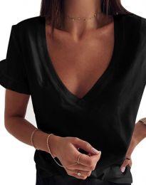 Κοντομάνικο μπλουζάκι - κώδ. 2462 - μαύρο