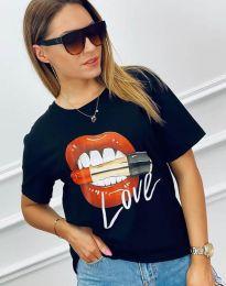 Κοντομάνικο μπλουζάκι - κώδ. 4340 - μαύρο