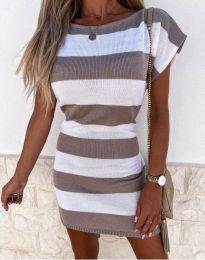 Φόρεμα - κώδ. 4633 - καφέ