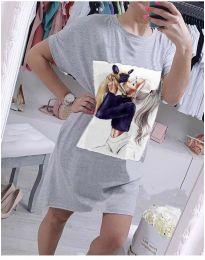 Φόρεμα - κώδ. 619 - γκρι