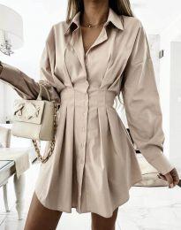 Φόρεμα - κώδ. 8141 - μπεζ