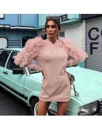 Φόρεμα - κώδ. 6383 - ροζ