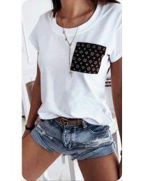 Κοντομάνικο μπλουζάκι - κώδ. 256 - λευκό