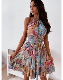 Φόρεμα - κώδ. 3858 - πολύχρωμο