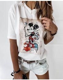 Κοντομάνικο μπλουζάκι - κώδ. 569 - λευκό