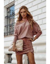 Φόρεμα - κώδ. 8987 - πούδρα