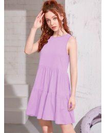 Φόρεμα - κώδ. 4471 - ανοιχτό μωβ