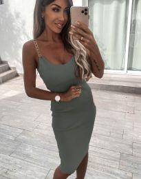 Φόρεμα - κώδ. 7124 - λαδί