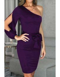 Φόρεμα - κώδ. 0579 - 2 - σκούρο μωβ
