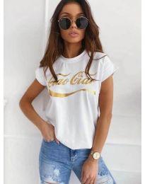 Κοντομάνικο μπλουζάκι - κώδ. 3659 - λευκό