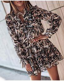 Φόρεμα - κώδ. 6014 - 3 - πολύχρωμο