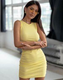 Φόρεμα - κώδ. 11795 - κίτρινο