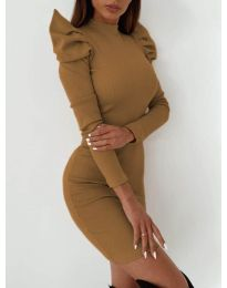 Φόρεμα - κώδ. 9303 - καφέ