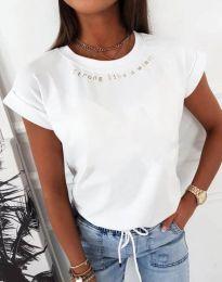 Κοντομάνικο μπλουζάκι - κώδ. 12002 - λευκό