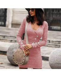 Φόρεμα - κώδ. 4516 - ροζ