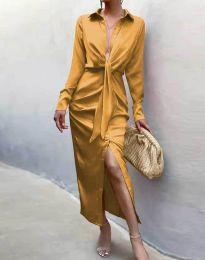 Φόρεμα - κώδ. 6459 - μουσταρδί