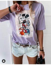 Κοντομάνικο μπλουζάκι - κώδ. 569 - 4 - ανοιχτό μωβ