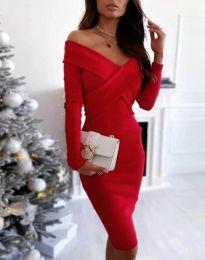 Φόρεμα - κώδ. 6130 - 3 - κόκκινο