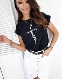 Κοντομάνικο μπλουζάκι - κώδ. 11826 - 1 - μαύρο