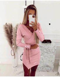 Φόρεμα - κώδ. 2077 - ροζ