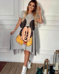 Φόρεμα - κώδ. 2304 - 1 - γκρι