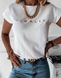 Κοντομάνικο μπλουζάκι - κώδ. 4078 - λευκό