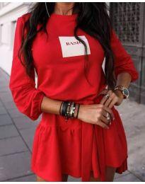 Φόρεμα - κώδ. 0789 - 2 - κόκκινο