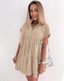 Φόρεμα - κώδ. 8889 - μπεζ