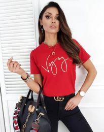 Κοντομάνικο μπλουζάκι - κώδ. 3350 - κόκκινο
