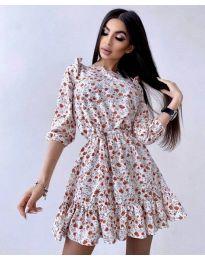 Φόρεμα - κώδ. 5910 - 3 - πολύχρωμο