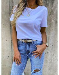 Κοντομάνικο μπλουζάκι - κώδ. 5233 - λευκό