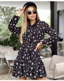 Φόρεμα - κώδ. 6555 - 4 - πολύχρωμο