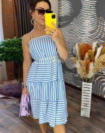 Φόρεμα - κώδ. 14777 - 1 - γαλάζιο
