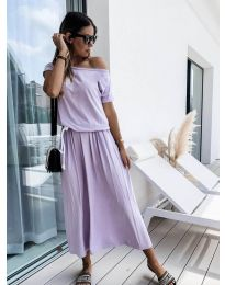 Φόρεμα - κώδ. 4151 - ανοιχτό μωβ