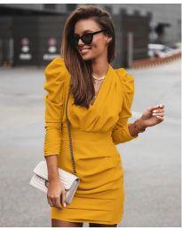 Φόρεμα - κώδ. 870 - μουσταρδί