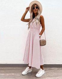Φόρεμα - κώδ. 2687 - ανοιχτό ροζ