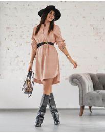 Φόρεμα - κώδ. 9601 - πούδρα