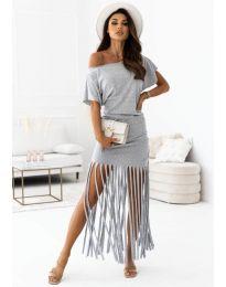Φόρεμα - κώδ. 12003 - γκρι