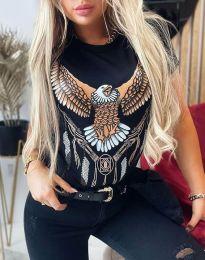 Κοντομάνικο μπλουζάκι - κώδ. 4375 - μαύρο