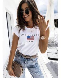 Κοντομάνικο μπλουζάκι - κώδ. 6336 - 1 - λευκό