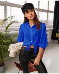 Дамска риза в синьо - код 7482