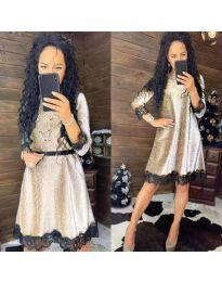 Φόρεμα - κώδ. 1426 - ανοιχτό γκρι