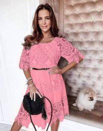 Φόρεμα - κώδ. 6979 - ροζ
