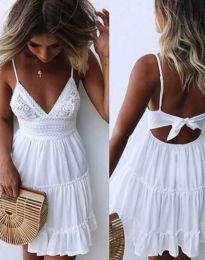 Φόρεμα - κώδ. 7115 - 1 - λευκό
