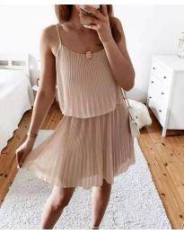 Φόρεμα - κώδ. 8596 - μπεζ