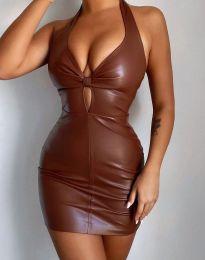 Φόρεμα - κώδ. 3842 - 2 - καφέ