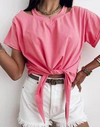 Κοντομάνικο μπλουζάκι - κώδ. 11669 - ροζ