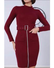 Φόρεμα - κώδ. 2053 - 4 - μπορντό