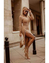 Φόρεμα - κώδ. 6585 - καφέ